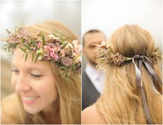 Floral Wreath Bridal Headpiece