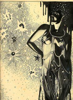 hoodoothatvoodoo: Pen and ink drawing by Konrad Klem 1941