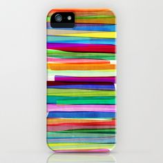 Colorful Stripes 1 iPhone & iPod Case by Mareike Böhmer Graphics - $35.00