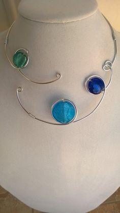 Collier moderne  collier fil Aluminium par LesBijouxLibellule
