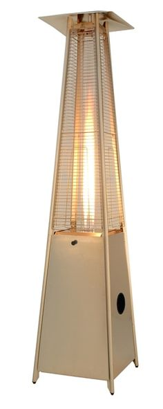 """TFPS Patio Heaters 91"""" Tall Commercial Triangle Glass Tube Heater - Stainless Steel Patio Heater - TFPS-HLDS01-GTSS Propane Patio Heater, Stainless Steel, Lighting, Glass, Outdoor, Tube, Aga, Home Decor, Triangle"""