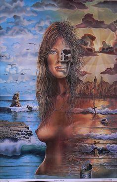 Kai Fine Art is an art website, shows painting and illustration works all over the world. Jim Warren, Doom 2, Surreal Art, Best Artist, Amazing Art, Fantasy Art, Mona Lisa, Gothic, Fine Art