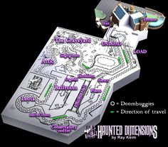 Ever wondered how they fit all of The Haunted Mansion into that house in Liberty Square? They don't! Here's the layout of the enormous show building behind the mansion's facade #disney #imagineering