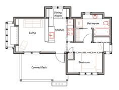 fab floorplan for Lizzie Cottage from Ross Chapin Architects [540 sq ft]