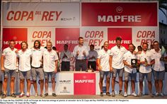 Presentation of trophies at the 32nd King's Cup Palma Vela.