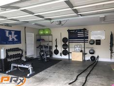 47 Inspiring design ideas for the home gym PRx performance - lift big in small spaces (as seen on Shark Tank!)Extreme Home Makeover: Garage Gym incredible ideas for the home gym, time for Home Gym Basement, Home Gym Garage, Diy Home Gym, Gym Room At Home, Home Gym Decor, Man Cave Garage, Diy Garage, Workout Room Home, Workout Rooms