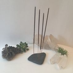 A personal favorite from my Etsy shop https://www.etsy.com/listing/232120427/slateshale-incense-holder-with-4-incense