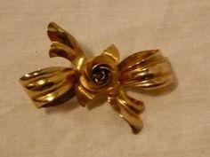 "#4708/0-Sterling silver flower brooch-size 0.875"" x 1.50""-t.w.4.20gr-0.14 tr.oz.-very good condition- - http://get.sm/lrbXKu #tradebank Jewelry,Hamilton ON"