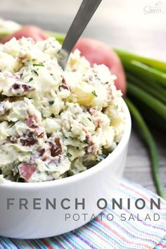 A different take-Chips & Dip French Onion Potato Salad #DipYourWay #ad