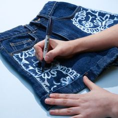 How to Make Bleach Printed Shorts | TeenVogue.com