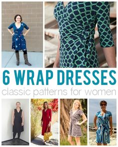 Do you have trouble getting a dress that fits just right? A classic wrap dress can fit many different body types and sizes! Take a look at these 6 wrap dress patterns with clever details to fit your style profile.