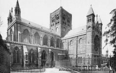 Photo of St Albans, Cathedral And Abbey Church 1921 St Peter's Church, Cathedral Church, St Albans, Ancient Architecture, Past, Circumcision, Street View, Watford, Cathedrals
