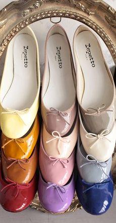 repetto Ballerina Cendrillon Patent Leather Shoes http://www.repetto.com/en/ballerina-cendrillon-patent-leather-iconic-pink-v086v899.html