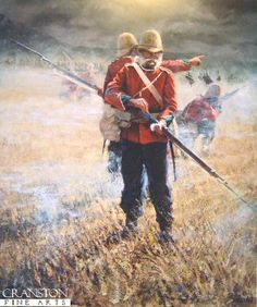 Last of the by Bud Bradshaw. Soldier of the Regiment of Foot (South Wales Borderers) loads his last round at the Battle of Isandhlwana. British Armed Forces, British Soldier, British Army, Asian History, British History, Tudor History, Ancient History, Military Art, Military History