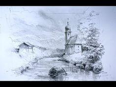 Ganz einfach zeichnen lernen 17: Landschaft / Teil 2 - YouTube