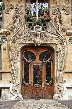 Beautiful Art Noveau Door in Paris