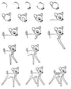 how to draw bambi - Google zoeken