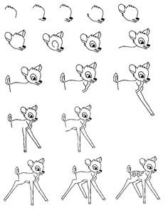 how to draw bambi - Google zoeken