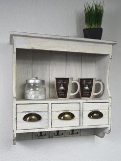 Vintage regal küche  Küchenregal, Wandregal, Schüttenregal, Shabby chic | Shabby style ...