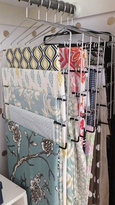 Fresh Coat of Paint: Office Closet Reveal - Pant hangers for storing fabric <3