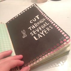 Cut through several layers #wreckthisjournal