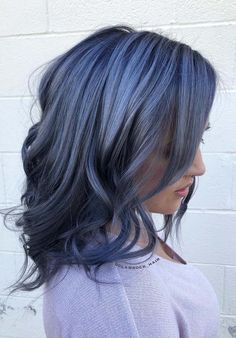 The best ever hair color combination of dark blue hair color shades to try nowadays. Visit here if you are looking for dark and blue hair colors to make you look stunning to go before any special occasion. We have collected here the amazing styles and shades of dark blue hair colors for fashionable and bold ladies.
