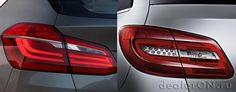 Задние фонари - БМВ 2-серии Актив Турер (BMW Active Tourer 2-серии) / минивэн Мерседес В-класса (Mercedes B-класса)