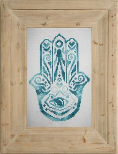 Hamsa Hand / Hand of Mary Cross Stitch by WaltonValeDesigns