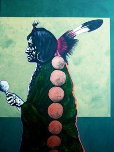 "Nocona Burgess-""Binaset with Rattle - Southern Arapahoe""kK"