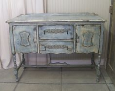Shabby Blue Painted Buffet / Sideboard