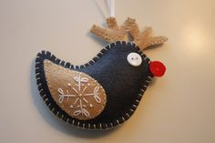 Rudolph the red nosed...bird?