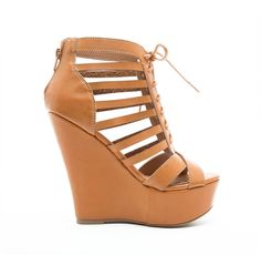 Stappy Wedge - Camel