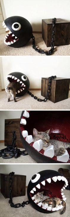 Großartig! Meine Katze würde da wahrscheinlich gar nicht mehr rauskommen, so bequem wie das aussieht.
