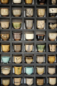 Saki Cups by Betsy Williams.