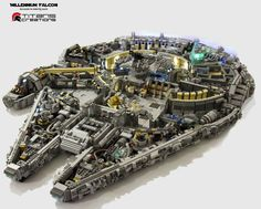 Ultra Detailed 10,000 Piece LEGO Millennium Falcon
