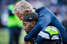 Must-Frame Photos of Week 6 -- Coach Pete with Russell Okung