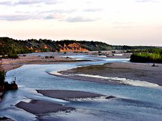 Tagliamento River in Ragogna, Udine, Friuli-Venezia Giulia_ Italy