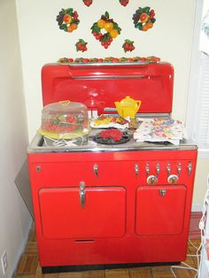 Chambers red stove