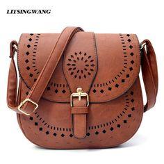 a8808cb4bf38 Purses. LITSINGWANG Small Casual Women Messenger Bags PU Hollow Out Crossbody  Bags Ladies Shoulder Purse ...
