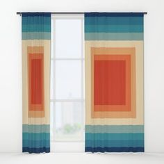 Retro Pattern Series Part 1 Window Curtains