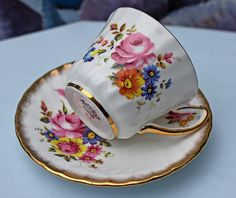 Vintage Teacup or Coffeecup with Saucer Set. by AnythingDiscovered