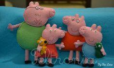 Peppa Pig e família! by Feltronia by Bia Leira, via Flickr