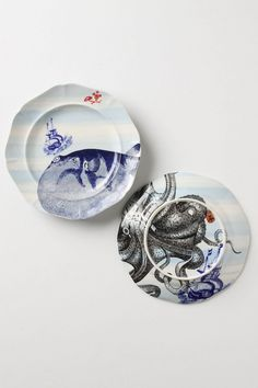 From The Deep Salad Plate, Puffer / fish plates - Anthro