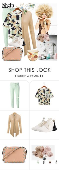 """Shein t-shirt"" by irinavsl ❤ liked on Polyvore featuring 7 For All Mankind, adidas Originals, Valentino, H&M and tarte"