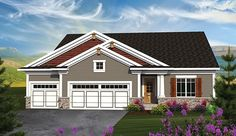 Ranch House Plan with 1660 Square Feet and 3 Bedrooms from Dream Home Source | House Plan Code DHSW076913