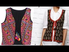 Ladies jacket for suit and kurta cutting and stiching pwith underground piping Sleeves Designs For Dresses, Dress Neck Designs, Diy Clothes Tops, Clothes For Women, Suits For Women, Jackets For Women, Ladies Jackets, Indian Jackets, Dress Sewing Patterns