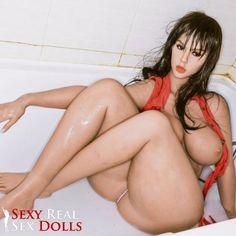 H-Cup Nicki Minaj SexDolls with Huge Ass in a bath tub taking shower