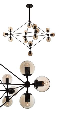 Artfully constructed from carbon steel and glass, this chandelier screams industrial-modern style, offering a retro flair in any indoor setting. Its geometric, multidimensional form elegantly contrasts...  Find the Celestial Galaxy Chandelier, as seen in the The Glamorous Globetrotter Collection at http://dotandbo.com/collections/the-glamorous-globetrotter?utm_source=pinterest&utm_medium=organic&db_sku=DBI9053