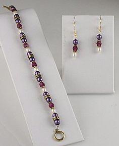 Jewelry Making Idea: Empress Bracelet and Earring Set (eebeads.com)