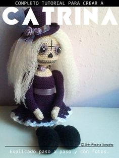 SPECIAL HALLOWEEN AND DAY OF THE DEAD: A DOLL TUTORIAL GOTHIC TO CROCHET | Cuchufleta While Sleeping